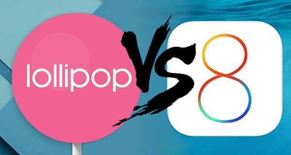 اندروید لالیپاپ کمتر از iOS 8 هنگ میکند