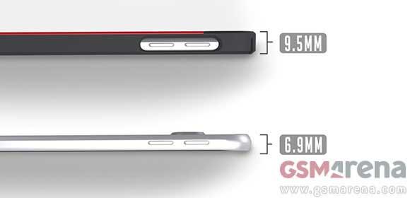 تایید ضخامت 6.9 میلیمتری با لو رفتن قاب گلکسی S6