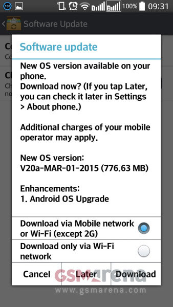ال جی L90 - ارائه اندروید 5 برای LG L90