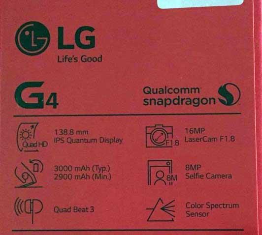 جعبه LG G4 - جعبه ال جی جی 4
