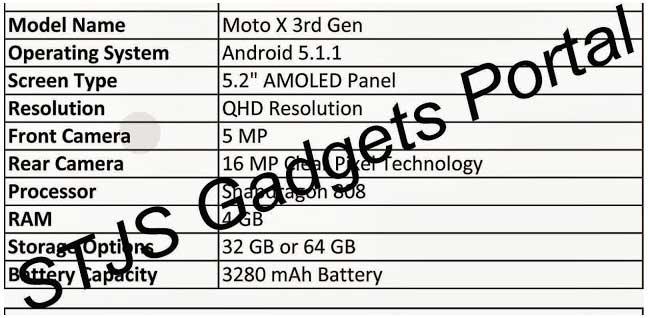 فاش شدن مشخصات نسل سوم Moto X
