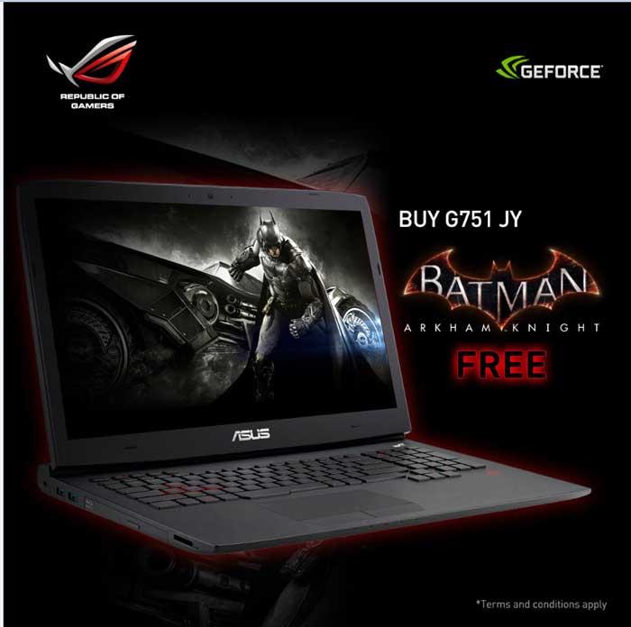 باندل بازی همراه با لپ تاپ گیمینگ ایسوس - بازی Batman:Arkham Knight