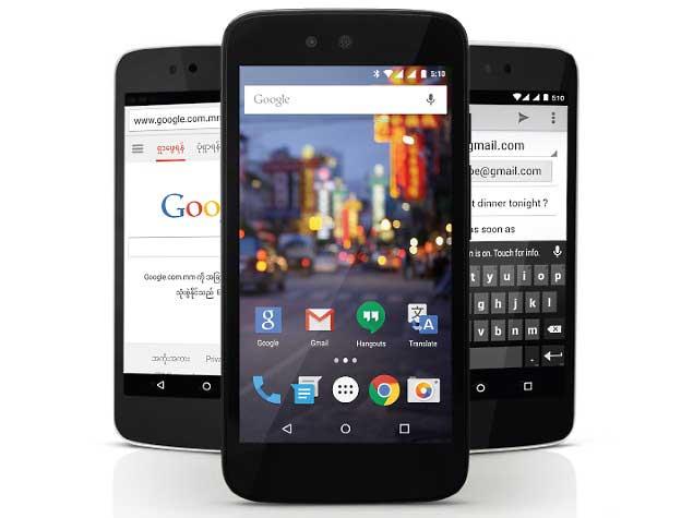 ارائه چری موبایل وان توسط گوگل در میانمار - اندروید وان (Android One)