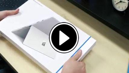 بازگشایی جعبه مایکروسافت سرفیس PRO 4