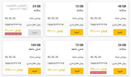 خرید آنلاین بستههای اینترنت ایرانسل - اینترنت ایرانسل