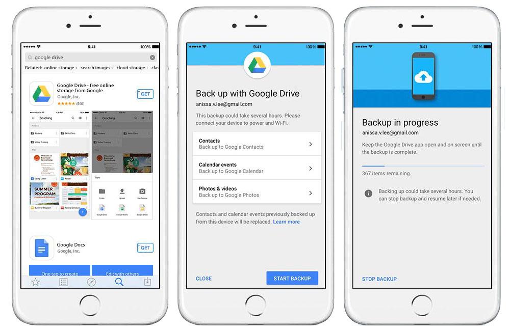 جابجایی آسان از آیفون به اندروید با Google Drive