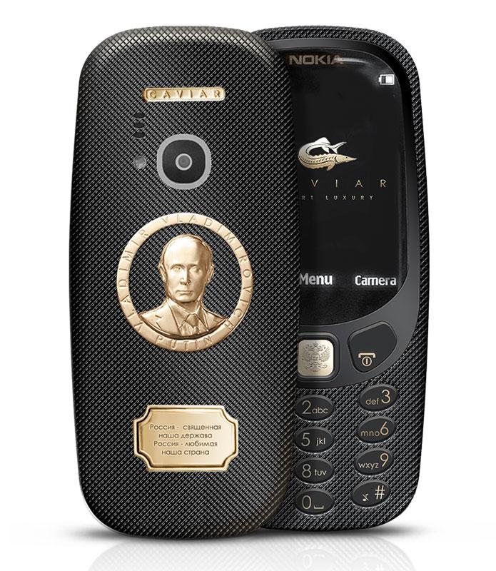 نوکیا 3310 طلایی 1700 دلاری مزین به تصویر پوتین !