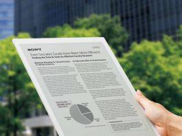 سونی یک تبلت جدید غولآسا e-paper معرفی کرد