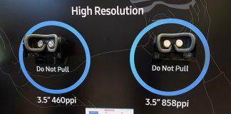 معرفی صفحهنمایش VR سامسونگ با 3.5 برابر پیکسل بیشتر