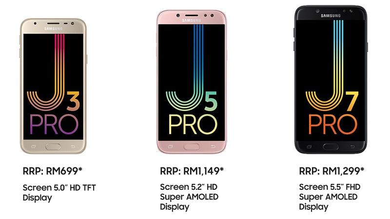 گلکسی J7 پرو همراه با J5 Pro و J3 Pro در مالزی معرفی شدند