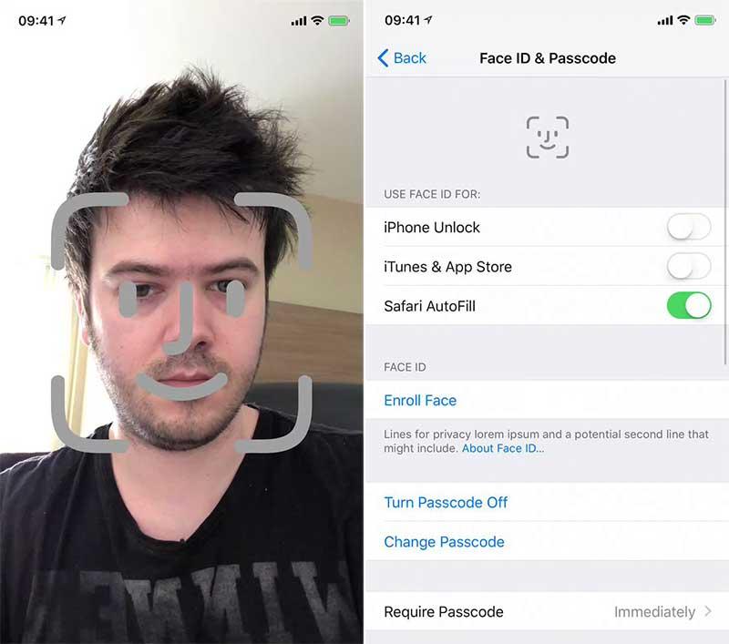 تشخیص چهره آیفون X چگونه کار میکند + ویدئو