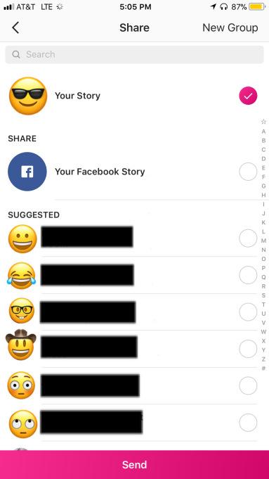 استوری اینستاگرام را مستقیما به فیسبوک بفرستید