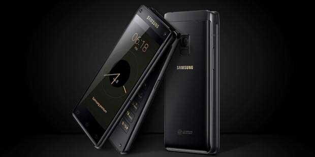 گوشی تاشوی سامسونگ W2018 معرفی شد : 2,400 دلار!