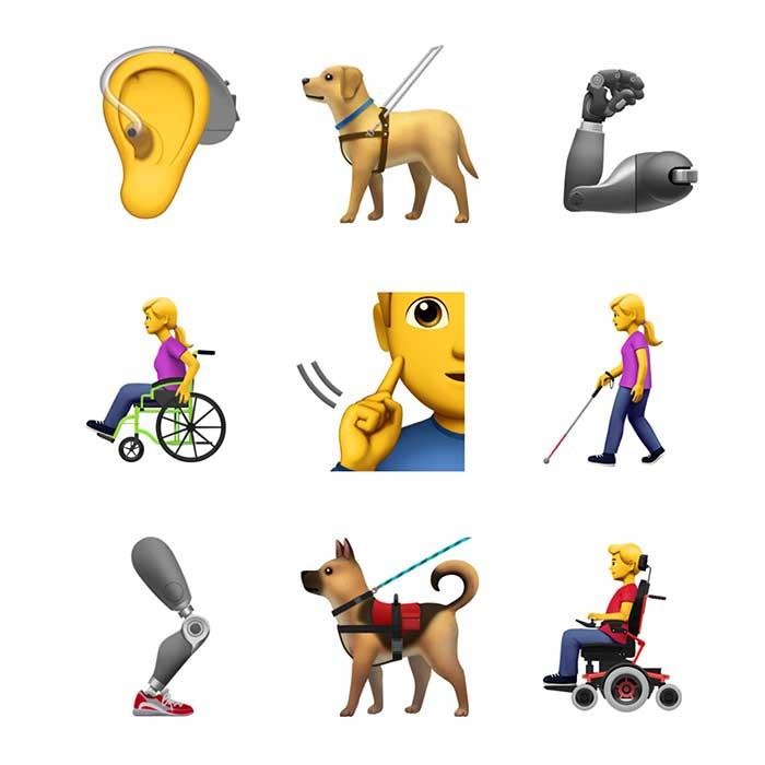 13 اموجی جدید اپل مخصوص افراد دارای معلولیت