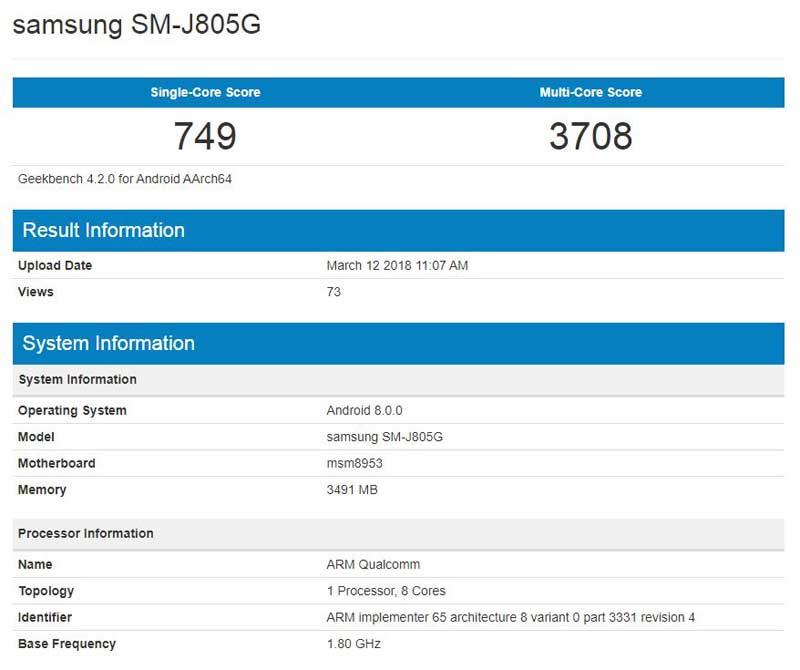 سامسونگ Galaxy J8 پلاس با رم 4GB به زودی در بازار