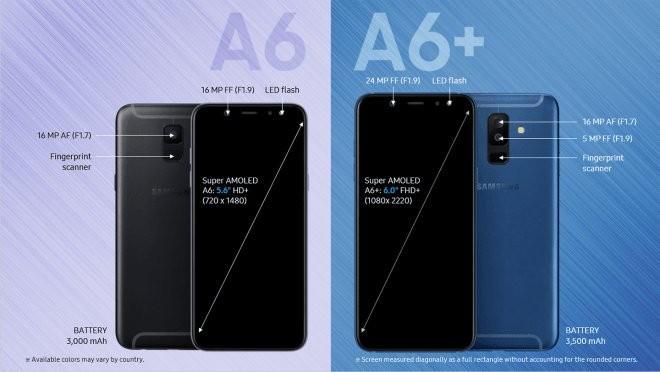 اطلاعات و قیمت Galaxy A6 و A6+ 2018 منتشر شد