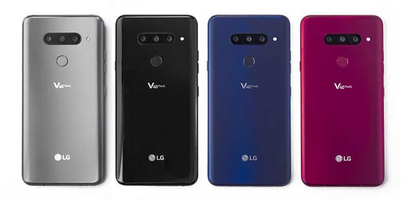 LG V40 ThinQ آمد: سه دوربین در پشت دو دوربین در جلو!