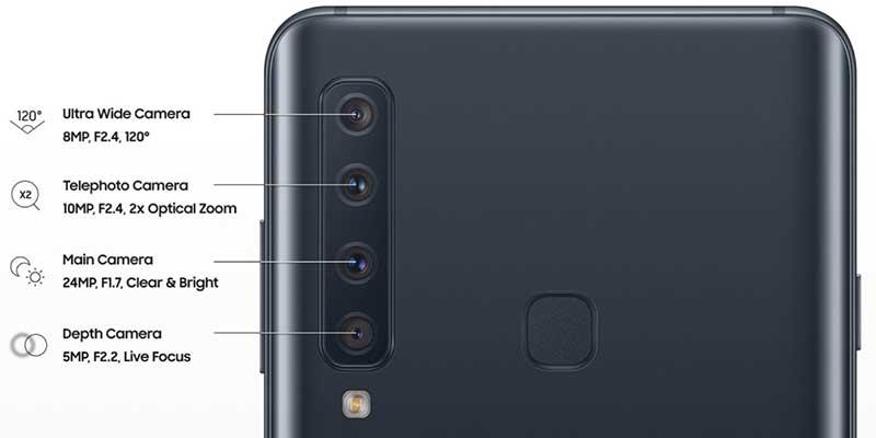 سامسونگ گلکسی A9 2018 اسمارتفونی با 4 دوربین اصلی!سامسونگ گلکسی A9 2018 اسمارتفونی با 4 دوربین اصلی!