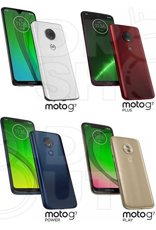 چهار عضو معرفی نشده Moto G7 با سه طراحی ناچ مختلف!