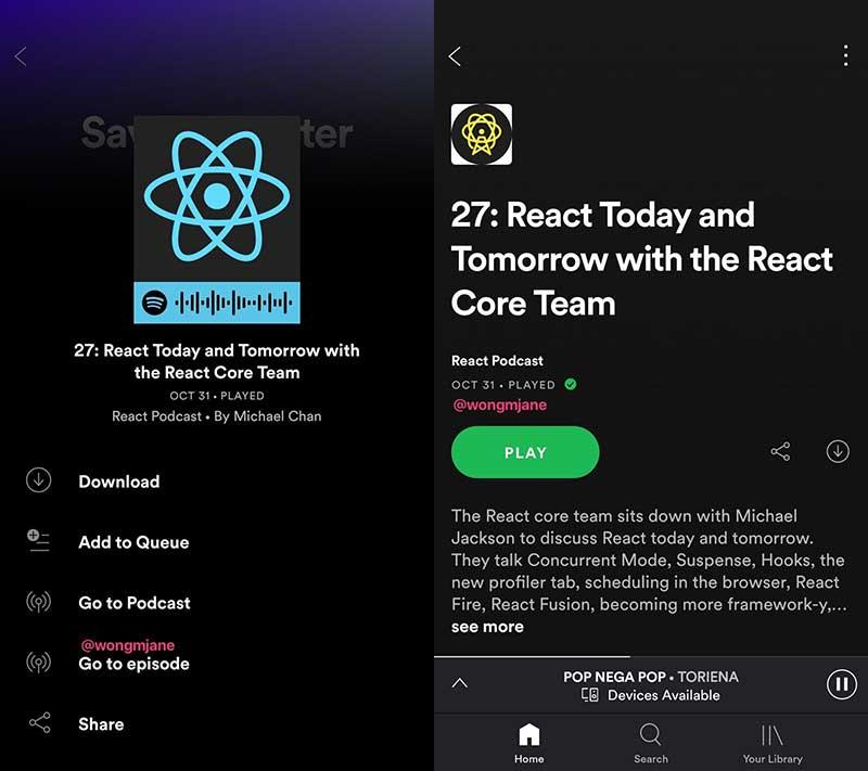 تغییرات جدید در اپلیکیشن اسپاتیفای – پخش آهنگ از حافظه