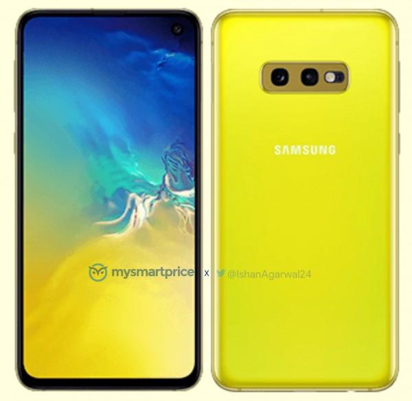 Galaxy S10e زرد قناری رقیبی برای آیفون XR