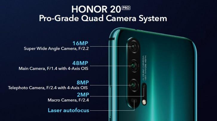 معرفی آنر 20 و آنر 20 پرو با Kirin 980 و دوربینهای چهارگانه
