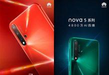 nova 5 در نسخه عادی و پرو همراه با یک تبلت میآید