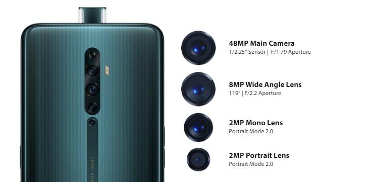 Oppo Reno2 در سه پرده با دوربینهای چهارگانه