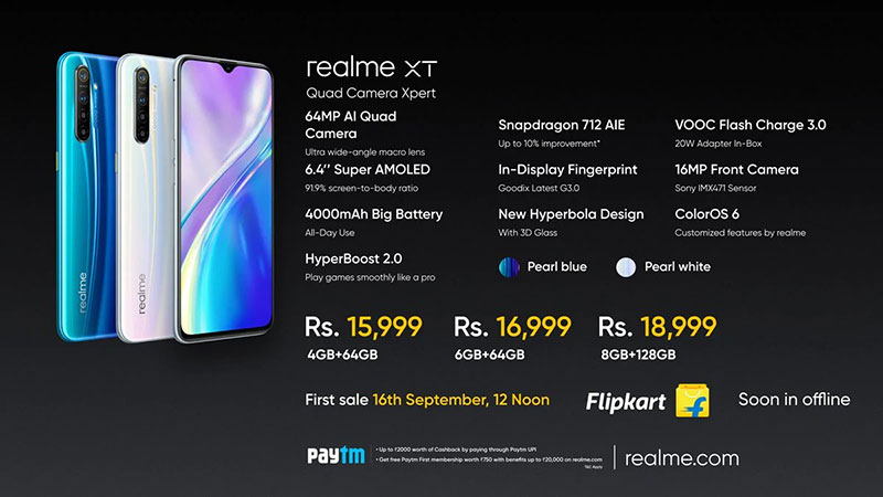 Realme XT دومین 64 مگاپیکسلی با شارژر 20 واتی آمد