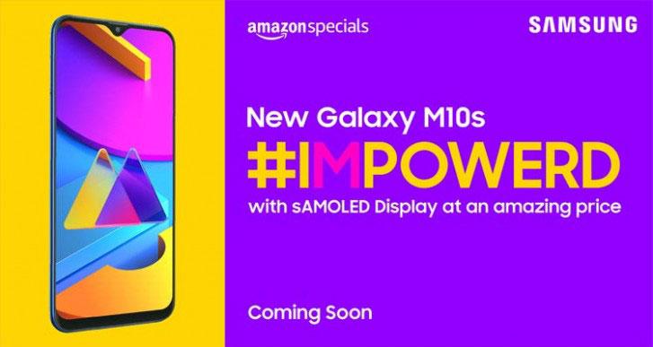 Galaxy M10s با پنل 6.4 اینچی OLED و باتری 4,000mAh میآید