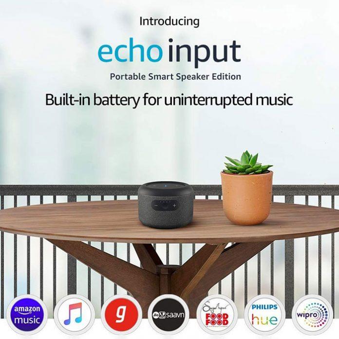 آمازون Echo Input اولین اکوی باتری دار