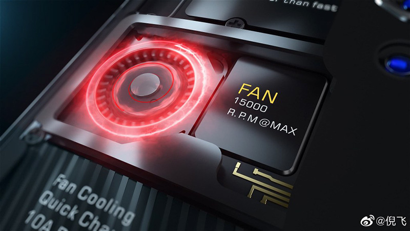 ZTE nubia Red Magic 5G اسمارتفون گیمینگ با فن چرخنده 15,000rpm
