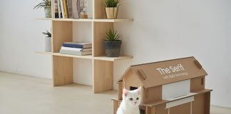 تبدیل جعبه تلویزیونهای سامسونگ به خانه گربه!