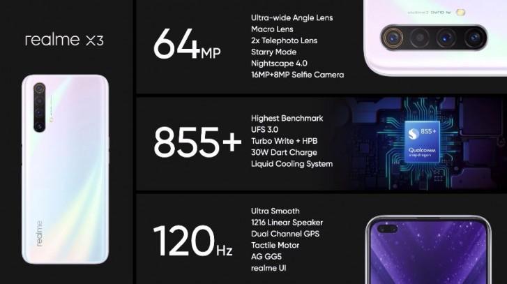 Realme X3 با دوربین 12 مگاپیکسلی تلهفتو و SD855 Plus
