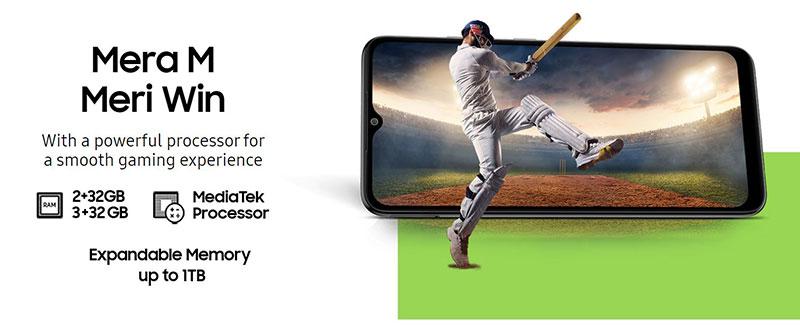 Galaxy M02 سامسونگ ارزان 6.5 اینچی با باتری 5,000