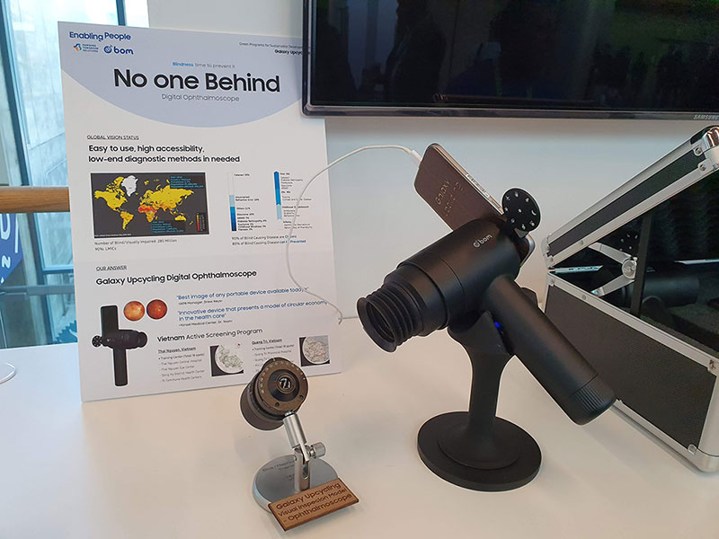 تبدیل گوشیهای قدیمی سامسونگ به دستگاه بررسی سلامت چشم