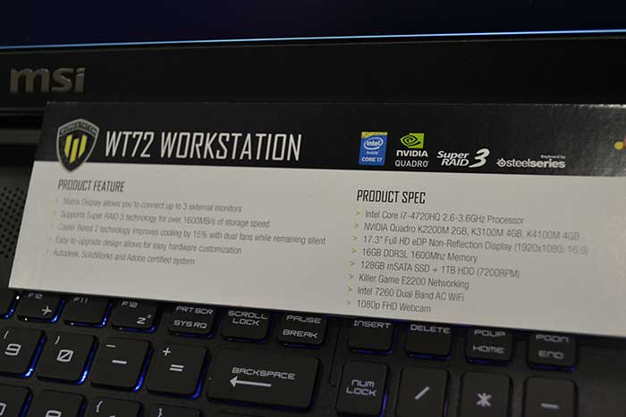 لپ تاپ MSI WT72 - رونمای از ورک استیشن WT72 از MSI