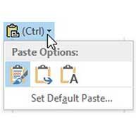 حذف باکس Paste در آفیس