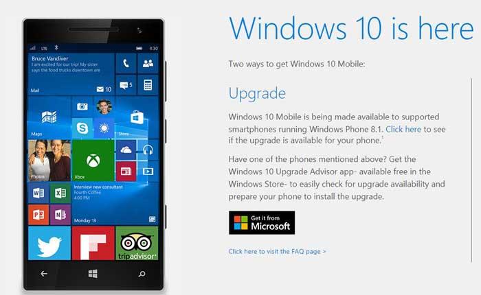 ویندوز10 - ارائه رسمی ویندوز 10 موبایل برای دیوایسهای منطبق