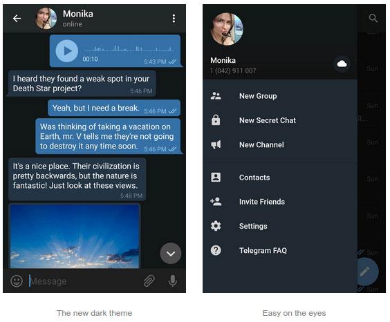 با آپدیت جدید تلگرام به راحتی تم صفحه را تعویض کنید