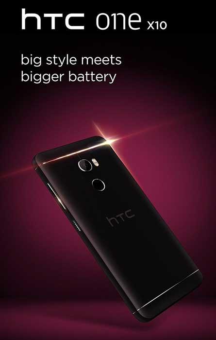 پوستر رسمی HTC One X10 منتشر شد. باتری قویتر؟