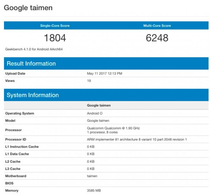 درز اطلاعات دیوایس گوگل با کد نام Taimen با 4 گیگ رم