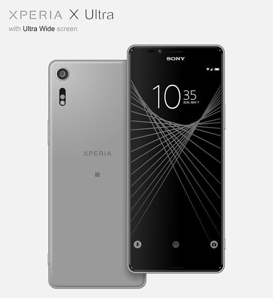 درز مشخصات و تصاویر سونی اکسپریا X Ultra با صفحهنمایش 21:9