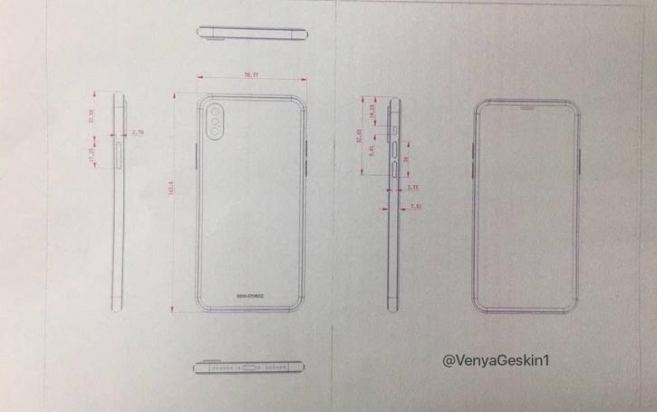 مشخص شدن ابعاد آیفون 8 و آیفون 7s پلاس با شماتیک جدید