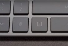 کیبورد مایکروسافت با سنسور پنهان اثر انگشت