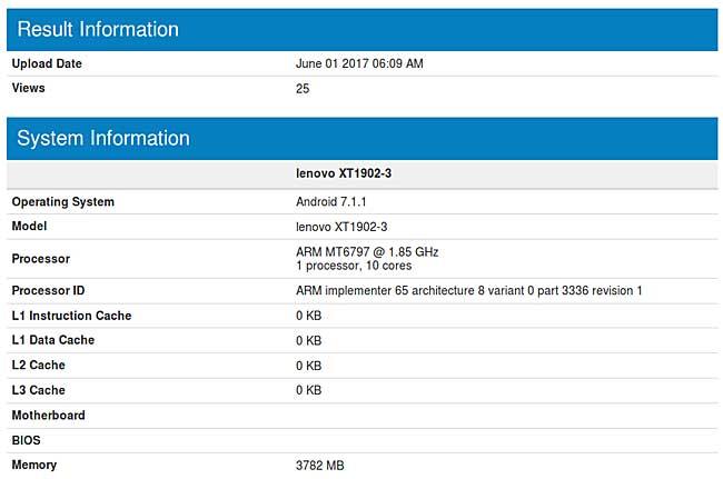 اطلاعاتی مقدماتی از یک موبایل جدید لنوو با پروسسور X20
