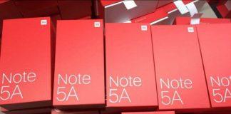 جعبه و مشخصات ردمی Note 5A شائومی لو رفت