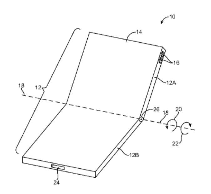 ثبت اختراع اپل برای آیفون تاشو