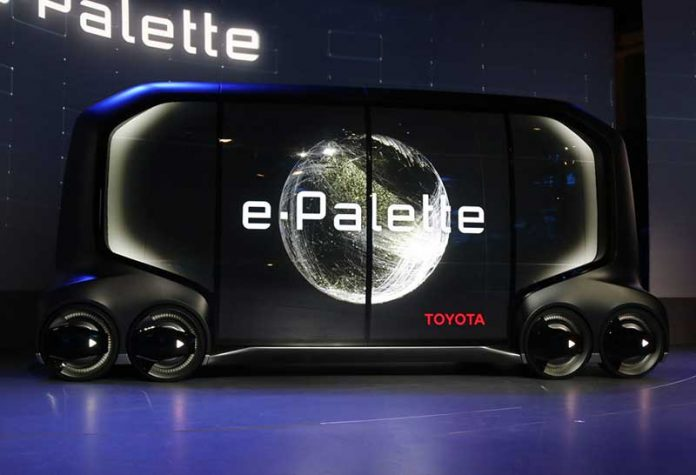 CES 2018 : خودروی کانسپت تویوتا E-Palette با ایدههای تجاری