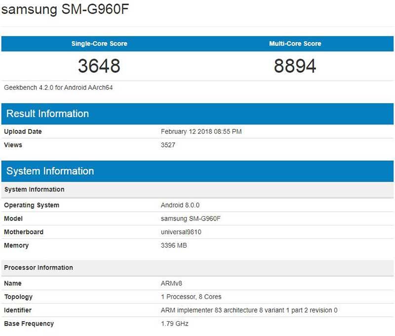 قدرت گلکسی S9 با پردازنده Exynos 9810 را ببینید